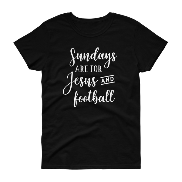 Sundays Are For Jesus And Football T-shirt - Hosanna Store