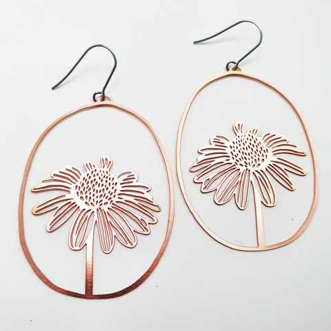 daisy dangles in rose gold