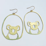 Koala dangles in gold
