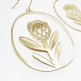 Protea dangles in gold