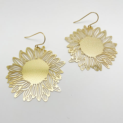 Sunflowers in gold