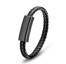 Load image into Gallery viewer, Leather Bracelet & Phone Charger