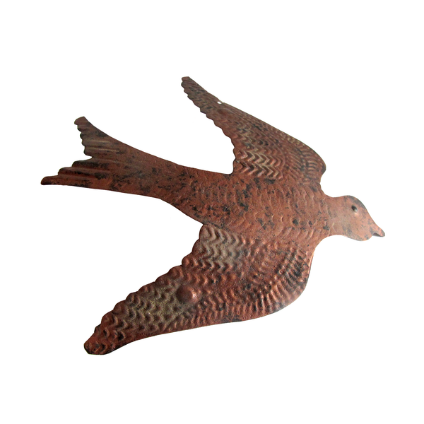 Brown metal bird