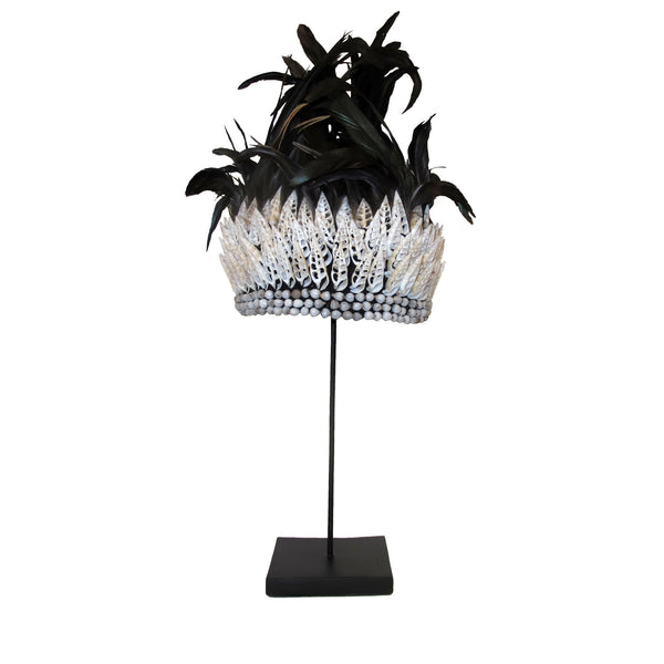 BLACK FEATHER CROWN