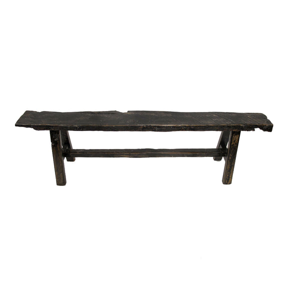 BLACK OLD ELM BENCH SMALL