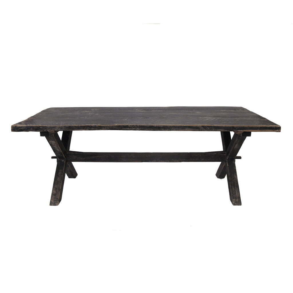 CROSS BLACK GLOSS DINING TABLE LARGE
