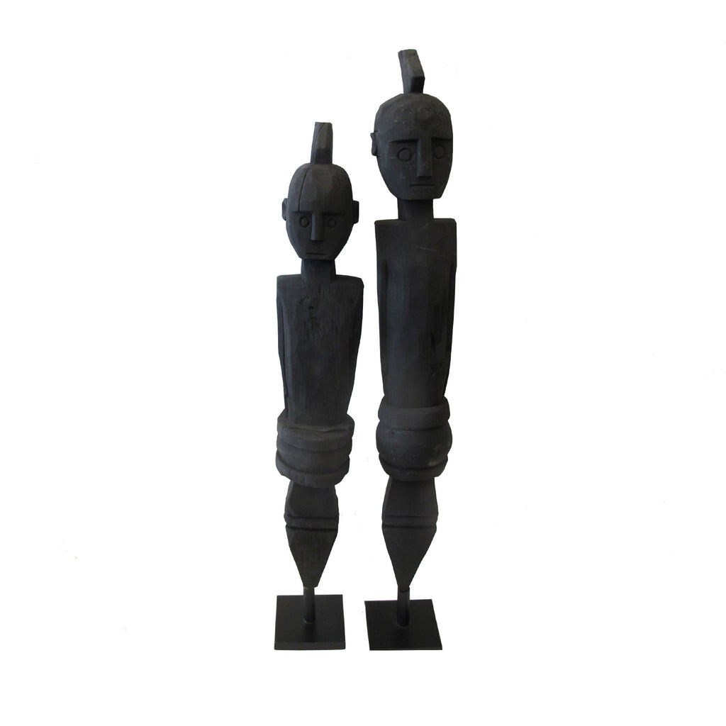 TIMOR WOOD STATUE LARGE BLACK