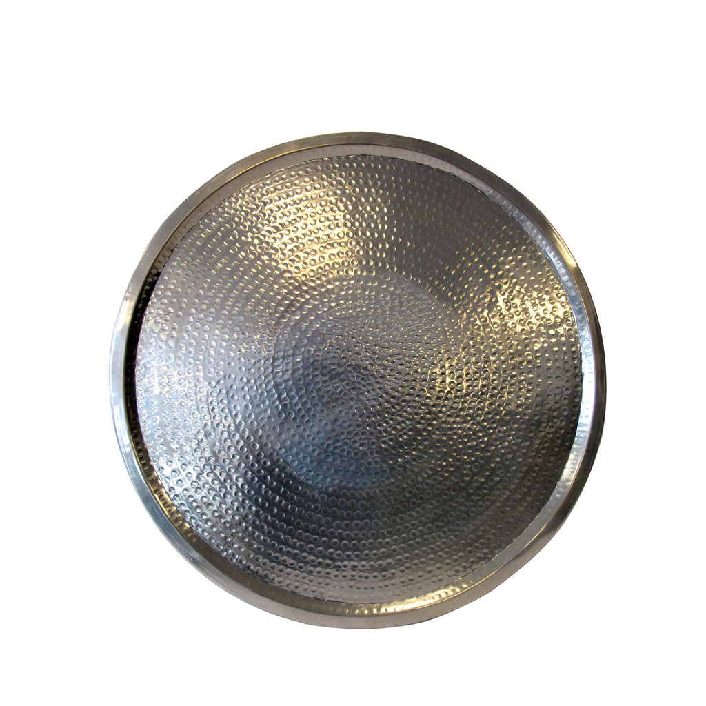 Silver hammered bohemian tray
