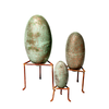 Metal eggs on stand set/3