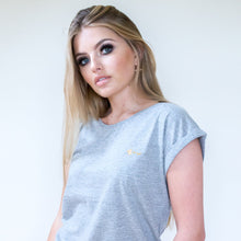 Coffee + Lashes Tee - Grey
