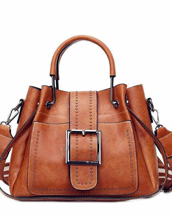 Vintage Bucket Shoulder Satchel Bag