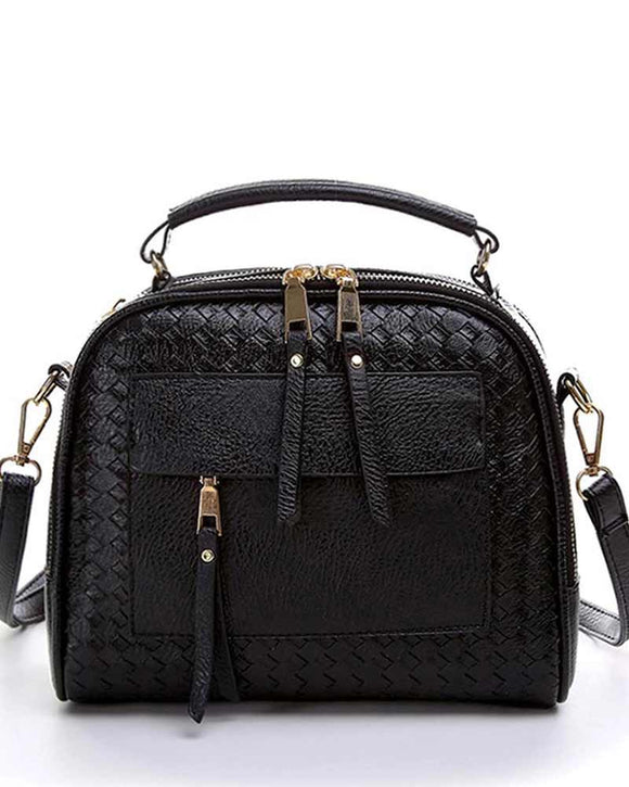 Basket Weft Small Cross Body Handbag