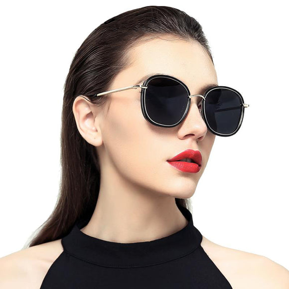 Mary Temple Metal Frame Sunglasses