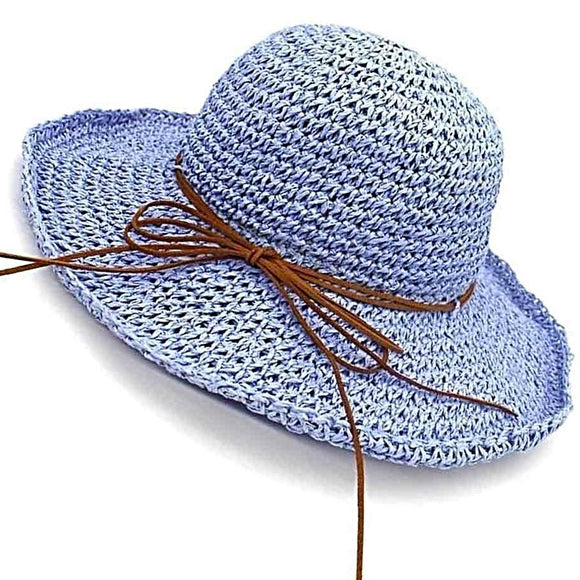 Huckleberry Bowknot Woven Straw Hat