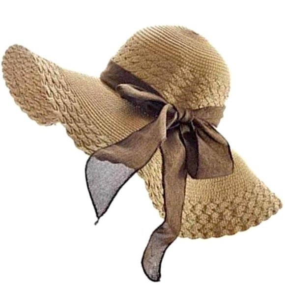 Floppy Summer Straw Beach Hat