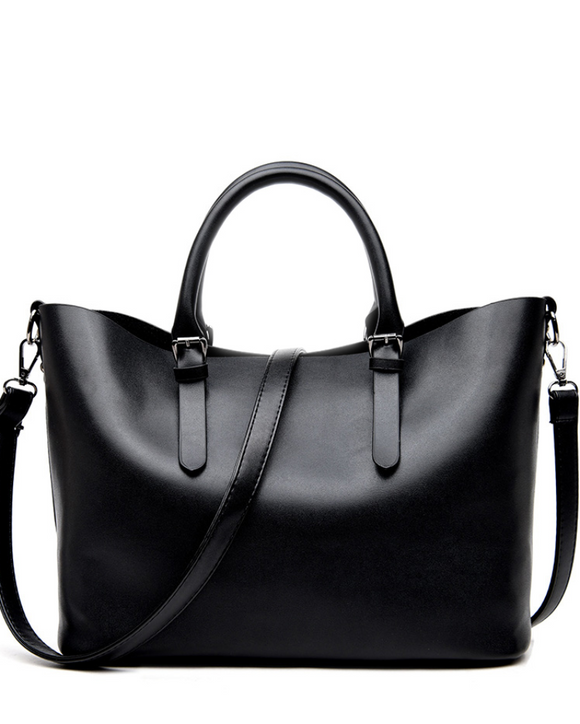Black Satchel Shoulder Handbag