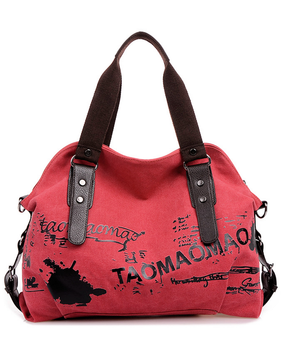Graffiti Canvas Satchel Bag