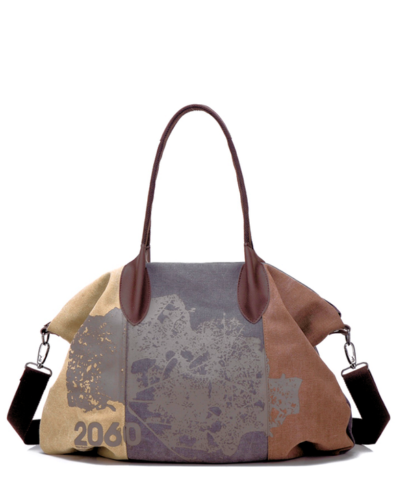 Canvas Satchel w/ Crossbody Strap