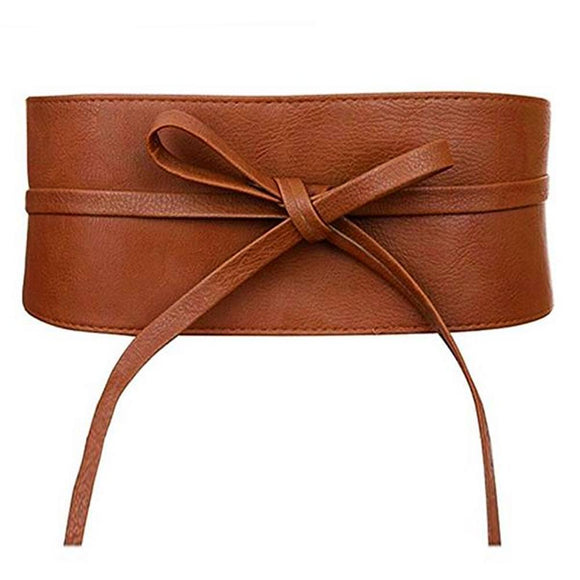 Bow-knot Faux Leather Belt