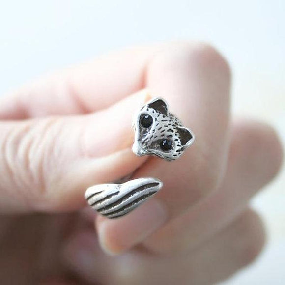 Adjustable Antique Fox Tail Ring