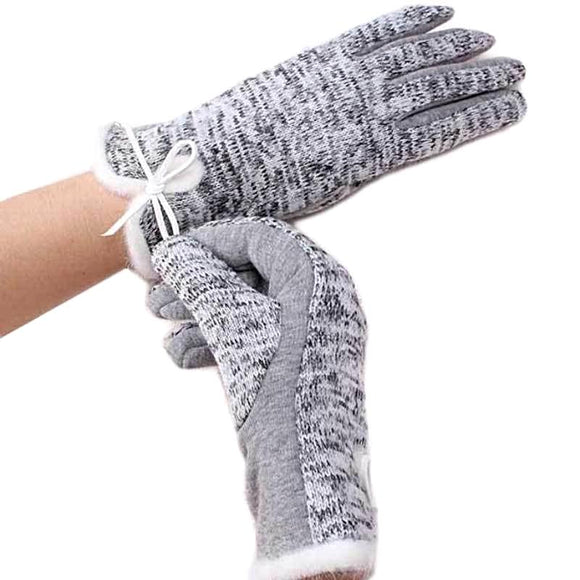 Plush Cotton Wool Women's Gloves