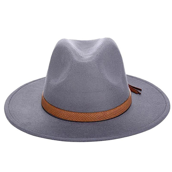 Wide Brim Winter Sun Hat - Classic Fedora