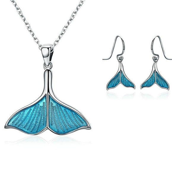 Ocean & Sea Whale's Tail Jewelry Set