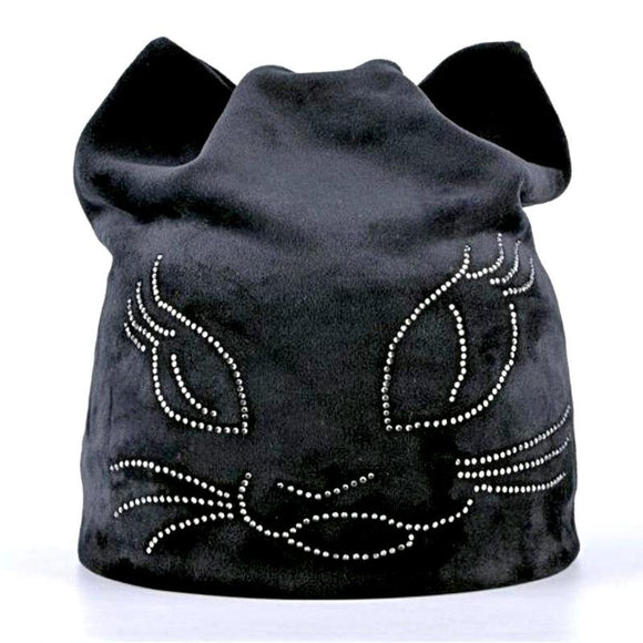 Coy Kitten Ears Beanie Hats For Women