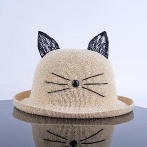 "Whimsical ""Cat Whiskers"" Bowler Hat"