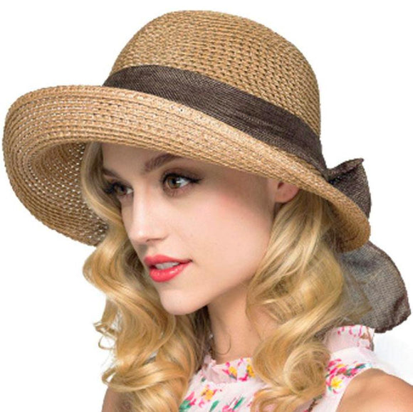 Sunbonnet Wide Brim Floppy Cloche Hat