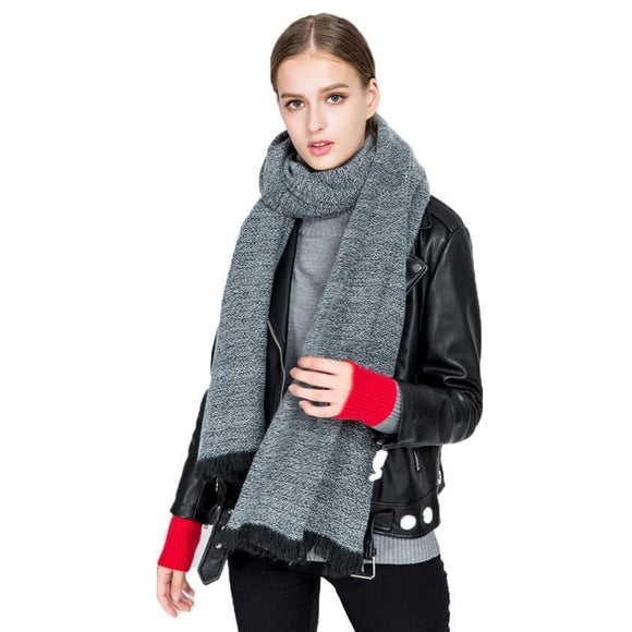 Warm Winter Woolen Knit Neck Scarf