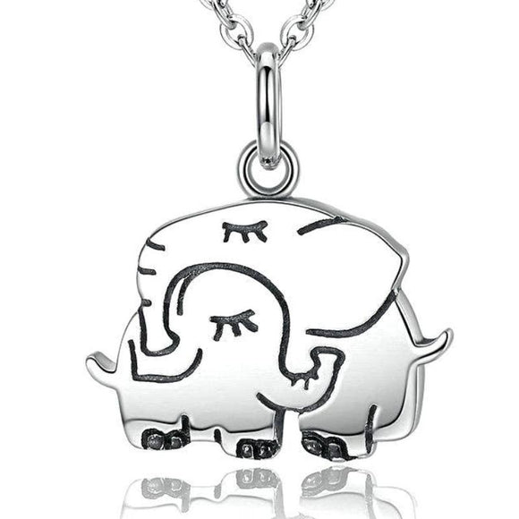 Mother's Hug Elephant Necklace