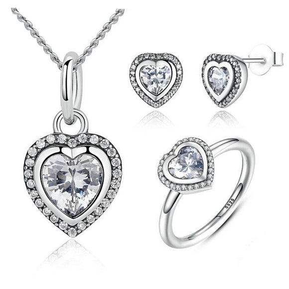 Classic Love & Heart-Shaped Jewelry Set