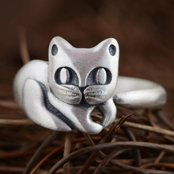 Chesterfield Cat Smile Silver Ring