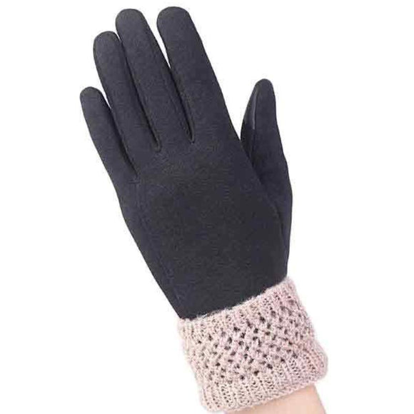 Lace & Cashmere Full Finger Gloves