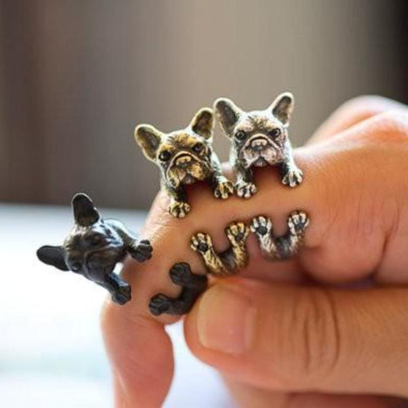 Antique French Bulldog Ring