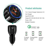 Quick Charge 3.0 In Car Charger 2 Ports USB Qualcomm QC Fast Charging Adapter AU BLACK