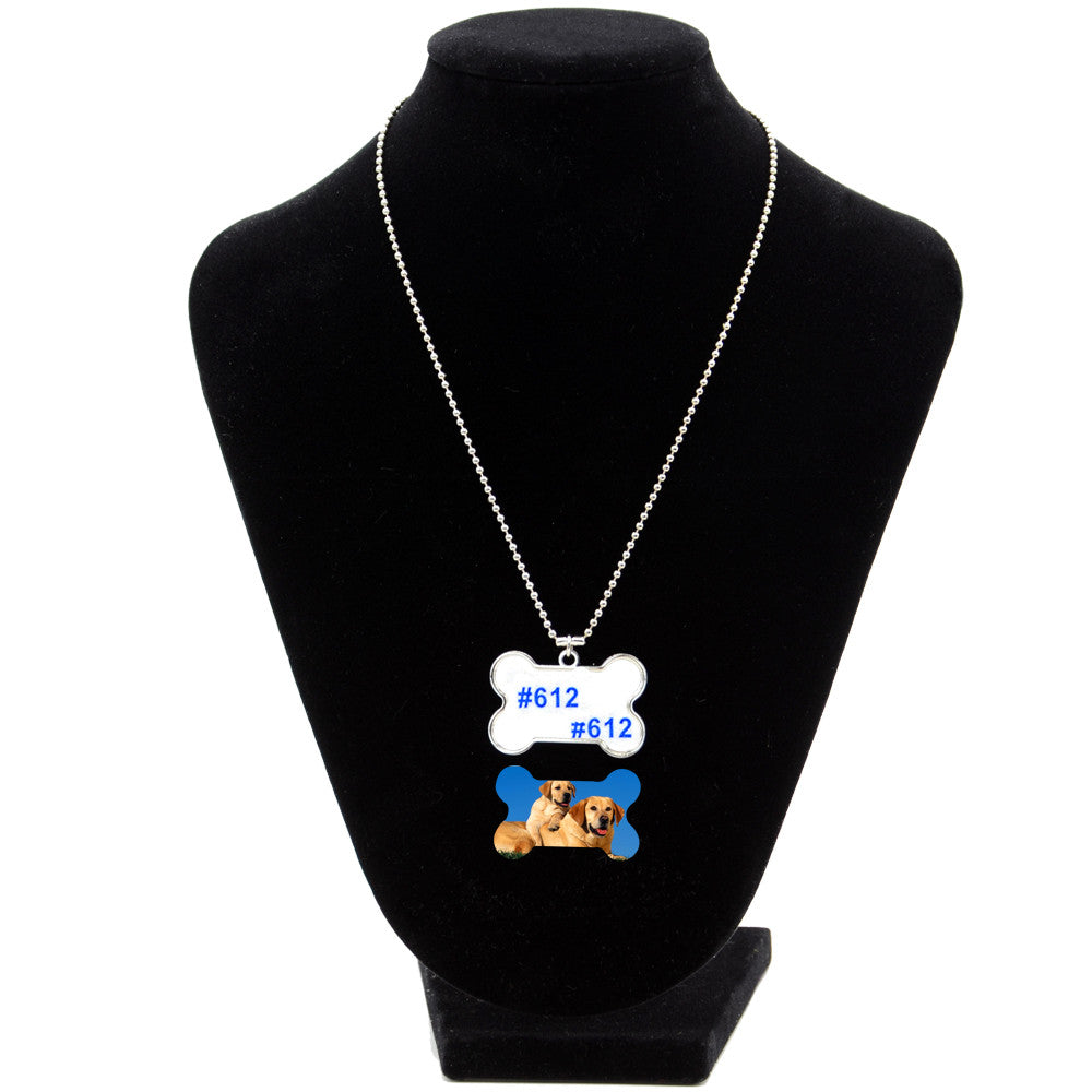 Dog tag bone necklace-100pcs