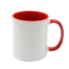 11oz Dino Glossy Coloured Inner And Handle Ceramic Mug Red-36pcs