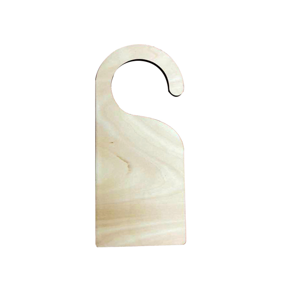 Natural Wood Door Hanger-Double Sides Printable -50pcs