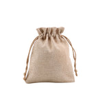 Faux Burlap Drawstring Bag-12*17CM-140pcs