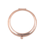 Round Pocket Compact Mirror-Rose Gold - 100pcs
