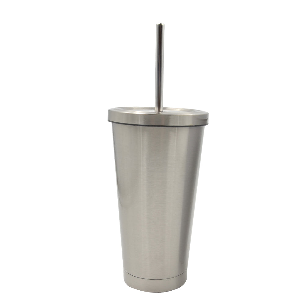 450ML Straw Cup-Silver-30pcs