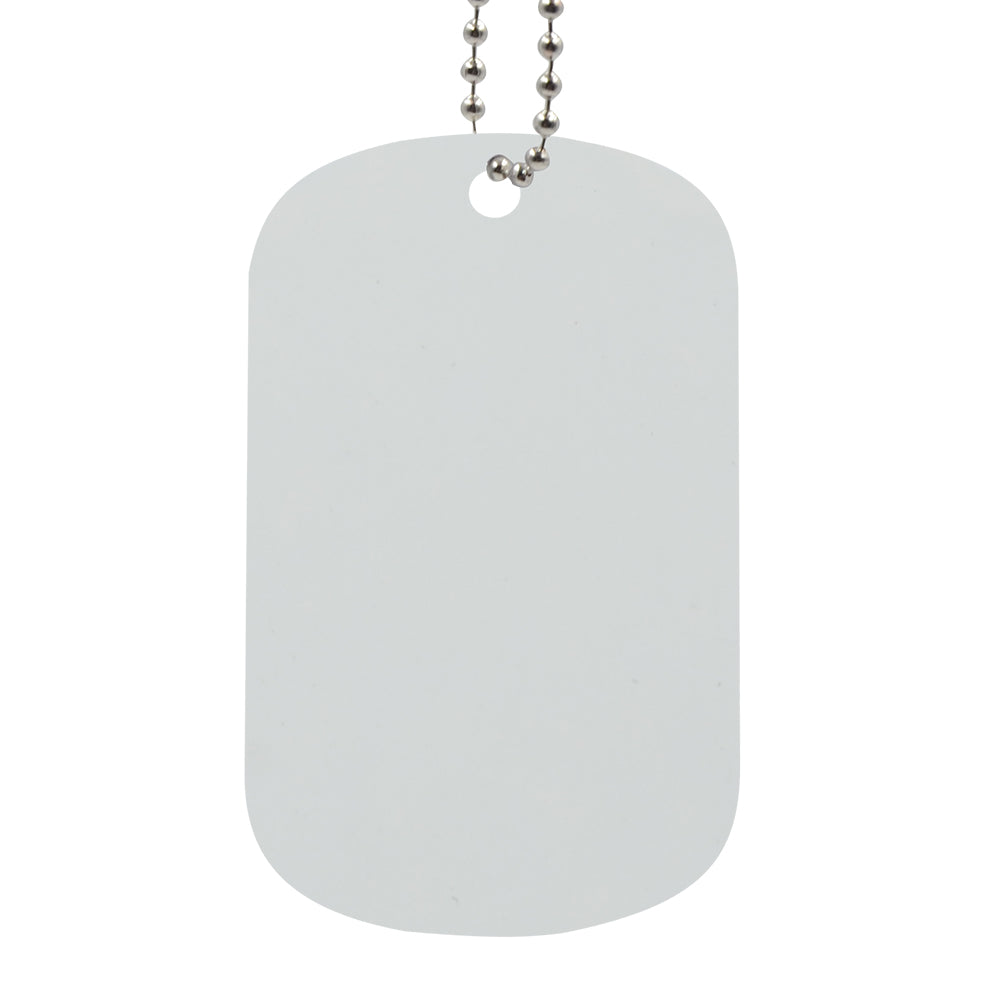 Stainless Steel Dog Tag White-100pcs