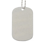 Stainless Steel Dog Tag Silver-100pcs