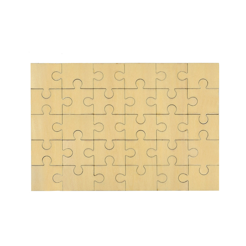 Natural Wood Jigsaw-Double Sides Printable - 50pcs