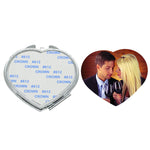 Heart  Pocket Compact Mirror - 100pcs