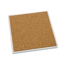 "Sandstone Coaster Square 4.25"" With Cork Base - 80pcs"