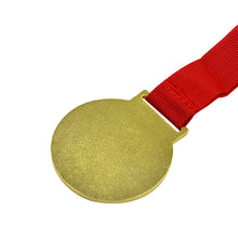 Golden Medal With Red Cord-100pcs