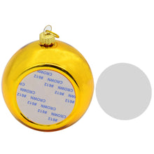 Plastic Electroplating Christmas bauble - Golden -100pcs
